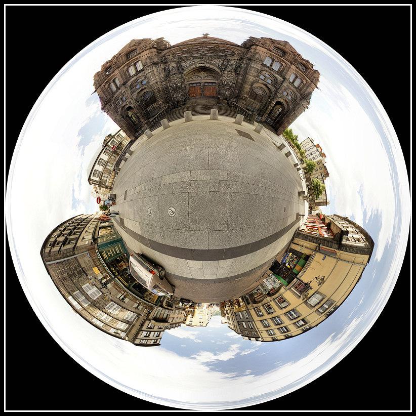 [360]+HD Cathédrale de l'Assomption (clermont ferrand)+Ajout Place